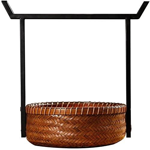 Ghongrm Inicio Jardín Al aire libre Cestas de picnic Vintage Bambú Picnic Cestas de Picnic No Cubierta Camping Compras Regalo Almacenamiento Portátil Cestas Picnic Cestas Cajas y Cofres Cestas de Picn