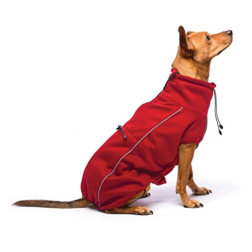 Dog Gone Smart Hundemantel, Softshell-Optik, 30,5 cm, Rot