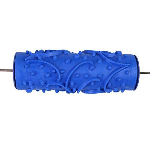 Yue668 Blumen Muster Pinsel Kopf Farbe Tapeten Rolle Roller Druckmaschine Getreidedruckrolle Wand Muster Werkzeug Für Holzwand Boden Wohnzimmer Kinderzimmer (A)