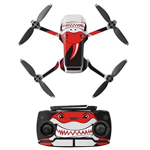 Drohnenschutzaufkleber Drohnenzubehör Schutzpaste(Shark red)
