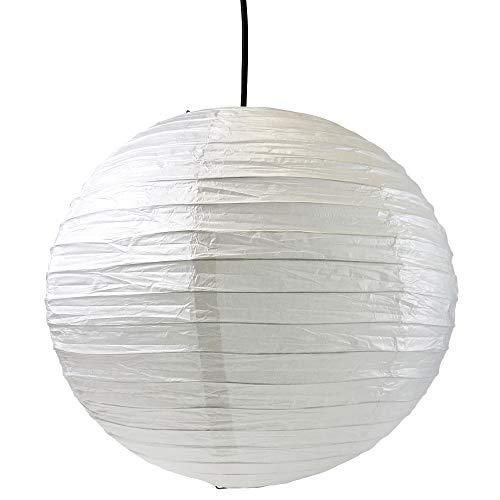 ESSENCE Lampenschirme für Hängelampen, kugelförmig, Reispapier, gerippt, 40 cm, Weiß, 2 Stück