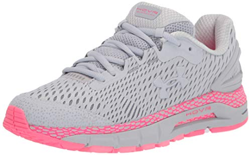 Under Armour Women's HOVR Guardian 2 Running Shoe, Halo Gray (102)/Cerise, 8