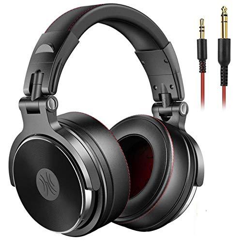 Casques de Jeu Headphone filable sur Les Oreilles Pliable for Ordinateur Informatique PC PC Professionnel Studio Pro 50 Moniteurs DJ Casque de Jeu Écouteur de Jeu pour Le Jeu Mobile, (Color : Black)