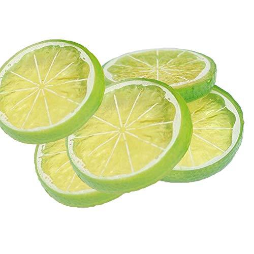 Goodplan Künstliche Gefälschte Zitronenscheibe Simulation Obst Scheibe Modell Küche Party Dekoration 5 Stücke