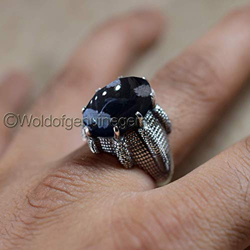 Black Onyx Ring 925 Silver Vintage Ring One Of Kind Ring Onyx Jewelry Dainty Ring Filigree Ring Promise Ring Anniversary Gift Statement Ring