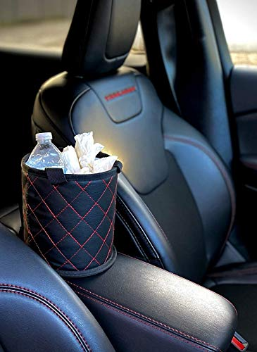 Fauchers Small Size car Trash can Includes car Garbage can Bags Center Console car Trash Container car Trash bin Vehicle Trash can car auto Trash Container for headrest auto Trash Container