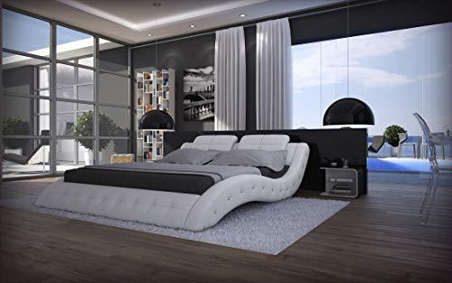 Sofa Dreams Wasserbett Designer Bett Doppelbett Mood 180 x 200 cm und 200 x 220 cm (180 x 200)