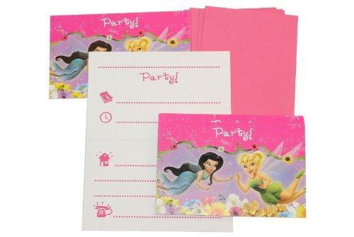 alles-meine.de GmbH 12 TLG. Set Einladungskarten Disney Tinkerbell Fairies + Umschlag Party Einladung Karte Fairy Fee
