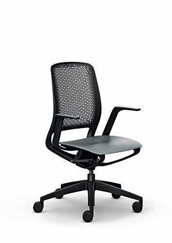 Sedus se:motion, Bürostuhl, Drehstuhl, schwarz, mit Armlehnen, Kunststoff 950 - 1065 mm