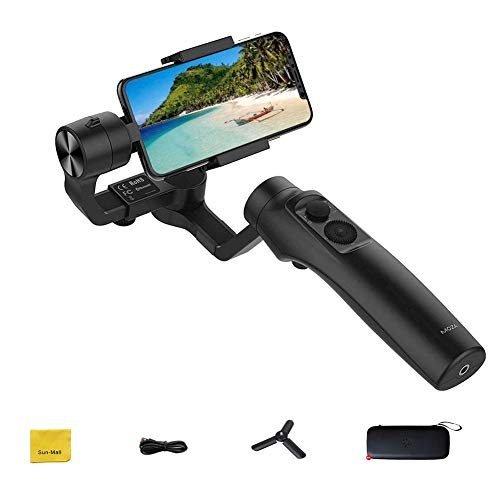 Moza Mini-MI - Estabilizador de cardán para Smartphone, 3 Ejes, inalámbrico, Carga para iPhone X/8/7/7 Plus/6/6 Plus, Samsung Galaxy S8 +/S8/S7/S6/S5 (Carga máxima de reproducción: 300 g)