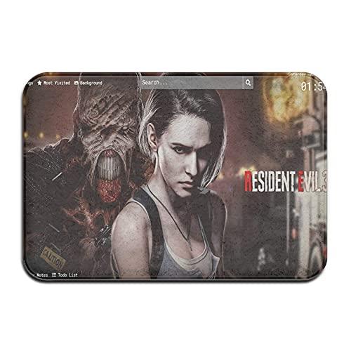 Resident Evil Remake - Alfombrilla para puerta de interior y exterior, 40 x 60 cm, lavable, alfombra de entrada antideslizante resistente para zapatos, alfombra para puerta delantera superabsorbente