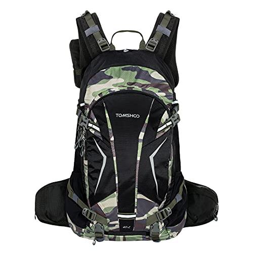 TOM SHOO Fahrradrucksack 20L/30L, Outdoor Rucksack Multifunktionaler Wanderrucksack Skirucksack für Radfahren Reiten Bergsteigen mit Regenschutzkappe und Helmabdeckung