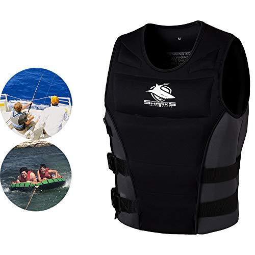 AURALLL Chaleco de esnórquel Chaleco Salvavidas para el Barco Kayak Buceo Deportes acuáticos para Mujeres Adultas Hombres Barco, Kayak, Bote a Motor, Pesca, Buceo, natación,XL