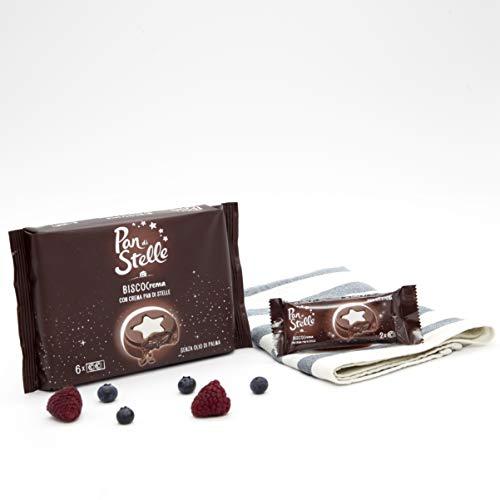 Pan di Stelle Biscocrema, Biscotti al Cacao e Nocciola con Crema Pan di Stelle, Copertura di Cioccolato e Crema al Latte - 168 g