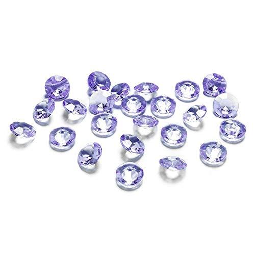 Deko-Streuschmuck 100 Diamanten hell - lila - Flieder 12mm Tischdekoration Streuartikel Hochzeit Taufe