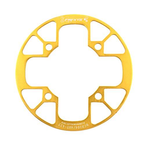 SET-SAIL Setsail Kettenschutz Zähne Ausführung Kettenrad Abdeckung Fahrradkette Fahrrad Antrieb Kurbel Kettenradgarnitur (Gold)