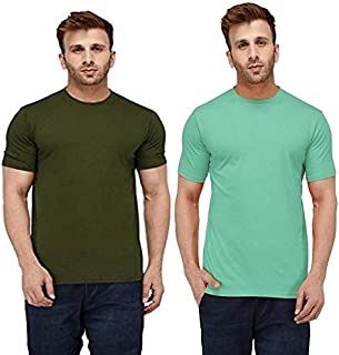 London Hills Men's Slim Fit T-Shirt (Pack of 2)