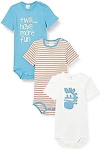 Sanetta Body im Set türkis Conjunto de Ropa Interior para bebés y niños pequeños, Petrolio, 74 cm