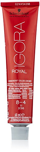 Schwarzkopf IGORA Royal Premium-Haarfarbe 8-4 hellblond beige, 1er Pack (1 x 60 g)