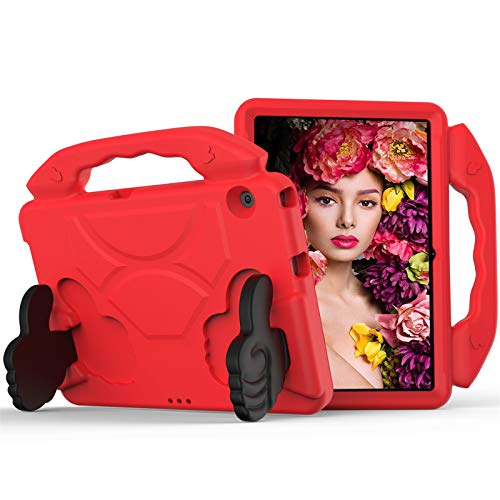 KATUMO Funda para niños para Huawei MediaPad T5 (10.1) Pulgadas, EVA Resistente a los Golpes, Trasera Dura y Ligera, Funda Protectora para Tableta para Huawei MediaPad T5 10,Rojo