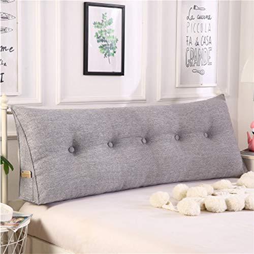 CTYJS Large Bolster Headboard Backrest Pillow,Triangular Reading Pillow Bay Window Long Pillow Wedge Cushion Soft Upholstered Lumbar Support Pillow