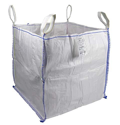 Sackmaker Fibc Bulk Bag Bolsa de Construcción de Una Tonelada - Bolsa de Basura de Jardín Extragrande (1 Paquete)