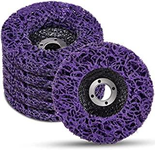 LAIWOO Disco abrasivo CSD lila; juego de discos de limpieza lila; disco de limpieza grueso; discos de nailon para lijadora angular (5 unidades, 125 x 22 mm)