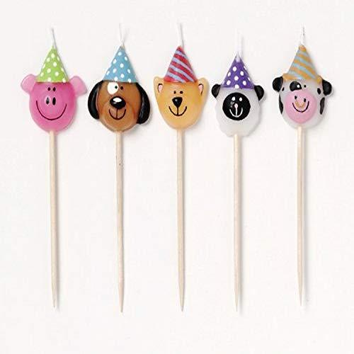 Creative Converting 5-Count Candle Picks, Barnyard Bash,Multicolor,3'