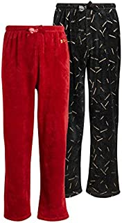 Image of Black and Red 2 Piece Fleece Pajama Pants - See More Colors