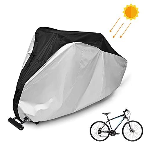 otutun Fahrradabdeckung wasserdicht, toptrek Fahrradabdeckung für 2 Fahrräder Wasserdicht 210T Oxford Hochwertige Fahrradgarage, Fahrrad Schutzhülle mit Schlosslöcher,Sonnenschutz und Regen (XL)