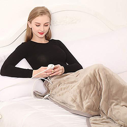 LIANG Felpa suave climatizada Blanket Throw, 6 bloque de ajuste de la temperatura, de 1-3 horas Timing, una variedad de Uso sheated Queen tamaño combinado, conveniente for el hogar Desk Sofá cama cale