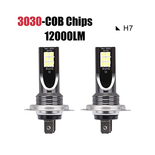 YANGLI WanLiTong 2 unids súper Brillantes Zes Mini H7 Bombillas LED para Faros de Coche 150W 6000K 30000lm Bulbo para automóviles Luces LED para Auto Fog LÁMPARA