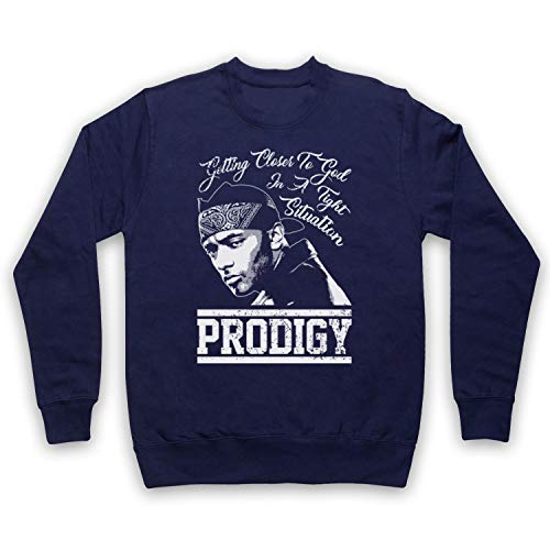 The Guns Of Brixton Mobb Deep Prodigy Shook Ones Part II Sweat-Shirt des Adultes, Bleu Fonce, Small
