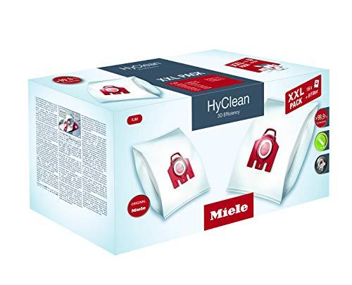 Miele Original Zubehör FJM XXL HyClean 3D Staubbeutel / filtert mehr als 99,9 prozent aller Feinstaubpartikel / 16 Staubbeutel, 4 Motorschutzfilter, 4 Abluftfilter / für Staubsauger / Rot