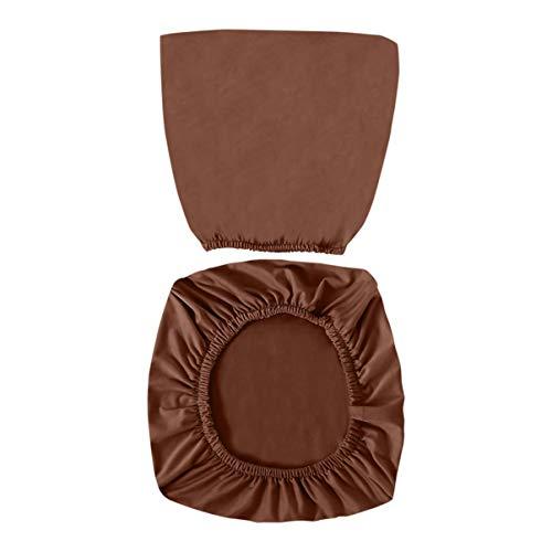VOSAREA Fundas para Sillas de Oficina de Café Fundas para Sillas de Escritorio de Computadora Elástica Protectores de Cojines para Asientos de Sillas Lavables Extraíbles ✅