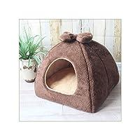 ペット猫洞窟ハウス折りたたみテントソフト犬ベッドかわいい犬小屋小さな子犬チワワハウスマット、C7、33X33X28Cm