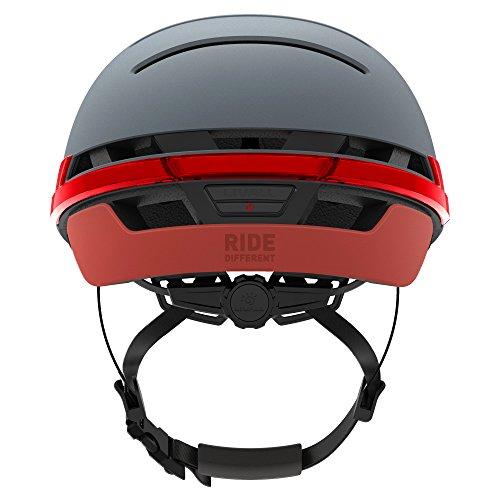 Livall bh51t Fahrradhelm mit Fernbedienung und 270Grad integrierter LED-Kontrollleuchten, Unisex, BH51T, Blau – Misty Blue, Nicht zutreffend - 3