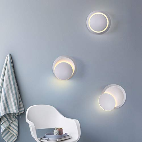 Decoratie Eenvoudige Moderne Wandlamp Woonkamer TV Kast Corridor Aisle Led Slaapkamer Nachtlampje Cafe De Lamp Hoofd Kan Draaien 360 ° Beugel Licht