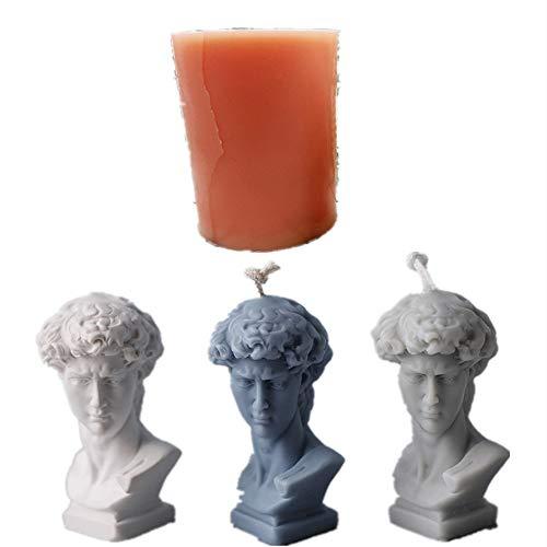 Silikonform mit David-Figur, Retro-Gips-Statue, Kunstharz, Aromatherapie, Ornament, Vintage, 3D, menschliche Figur, Heimdekoration