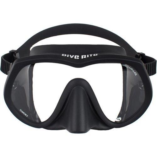 Dive Rite UltraClear Frameless Mask, Black