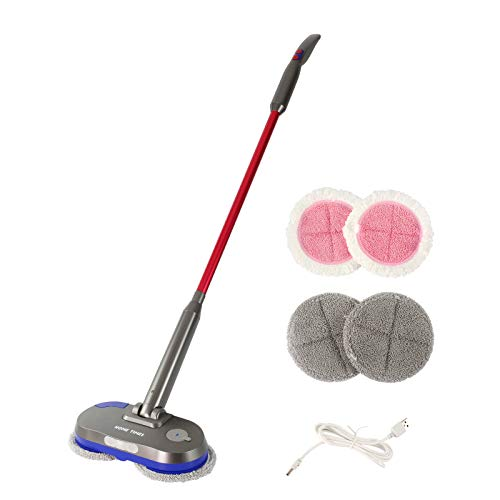 Electric Mop Wet Wood Floor Cleaning Powerful Cordless Spin Mop...
