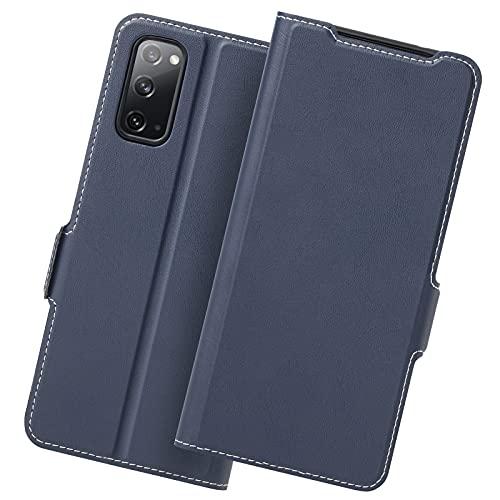 Holidi Samsung S20 Funda, Funda Samsung S20 Libro, Samsung S20 5G Carcasa con Cierre Magnético, Tarjetero, Suporte, Capa Plegable Cartera, Flip Cover Case, Tipo Étui Piel Protección.Azul