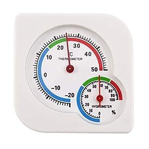 Elviray Classic Homeuse Indoor Outdoor 2 in 1 Mini Igrometro Umido preciso Termometro di umidità Misuratore di Temperatura Meccanico