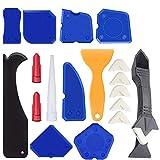 18 piezas de silicona sellado herramientas Caulk Kit Caps Sealant Schaber Kit Fugenglätter Set para todos los cuarto de baño cocina espacio y marco