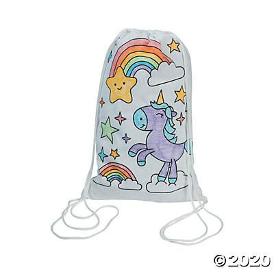 Color Your Own Unicorn Backpack - Crafts for Kids and Fun Home Activities
