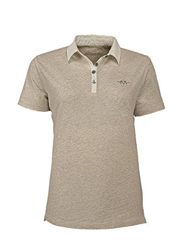 Blaser Polo Hemd Damen beige mélange Poloshirt Polohemd Bluse (36)