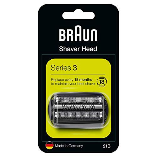 Braun Series 3 21B Testina Di Ricambio Per Rasoio Elettrico Uomo, Nero, Compatibile Con I Rasoi Series 3