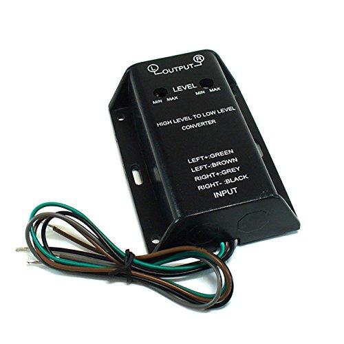 maxxcount 2-Kanal High-Low Level Adapter regelbar | Signalwandler für Werks-Autoradios (High-Level) zum Anschluss eines Verstärkers (Low-Level/Cinch)