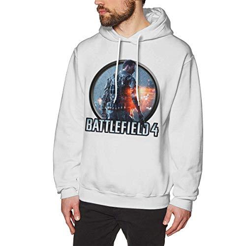 Tengyuntong Herren Kapuzenpullover, Hooded Sweat, Battlefield Fashion Men's Hat and Pocketless Sweater Black