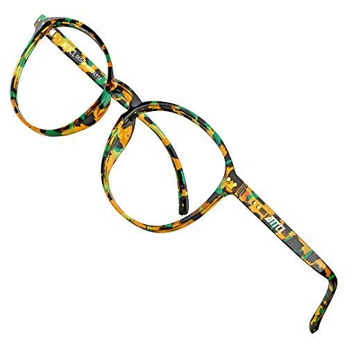 ATTCL Unisex blaulichtfilter brille computerbrille zum Blockieren von UV-Kopfschmerz [Verringerung der Augenbelastung] Gaming Brille (1133 Grüne Blume)